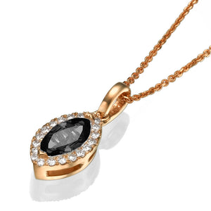 "0.9 TCW 14K White Gold Black Diamond ""Kristen"" Pendant"