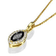 "Load image into Gallery viewer, 0.9 TCW 14K White Gold Black Diamond ""Kristen"" Pendant"