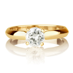 "1 Carat 14K Yellow Gold Moissanite ""Mary"" Engagement Ring"