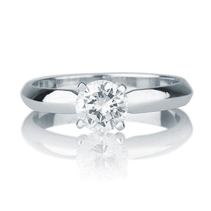 "1 Carat 14K White Gold Moissanite ""Mary"" Engagement Ring"
