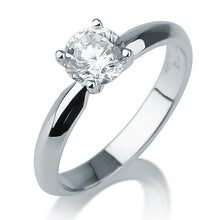 "Load image into Gallery viewer, 1 Carat 14K White Gold Moissanite ""Mary"" Engagement Ring - Diamonds Mine"