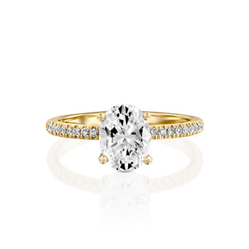 2.2 Carat 14K Yellow Gold Moissanite & Diamonds