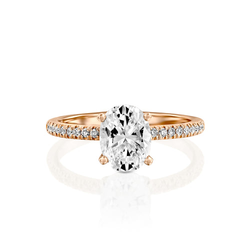 0.8 Carat 14K Rose Gold Diamond