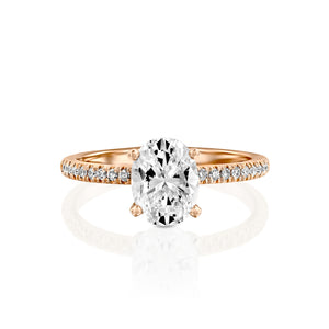"2.2 Carat 14K Yellow Gold Moissanite & Diamonds ""Shanon"" Engagement Ring"