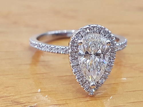 Pear Shaped Diamond Engagement Ring - Diamonds Mine