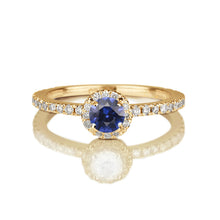 "Load image into Gallery viewer, 0.57 TCW 14K White Gold Blue Sapphire ""Holly"" Engagement Ring"
