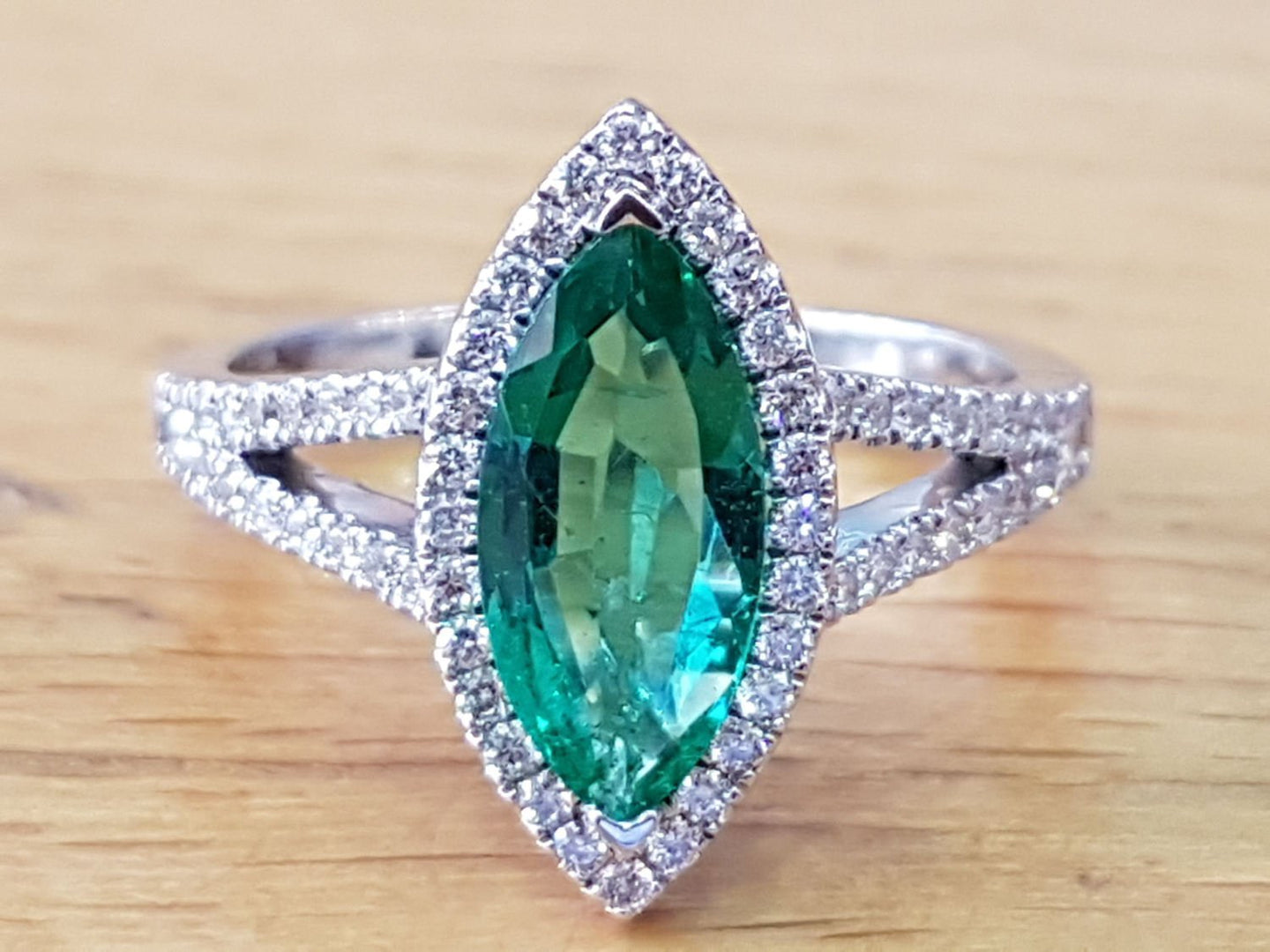 Marquise Emerald Engagement Ring - Diamonds Mine