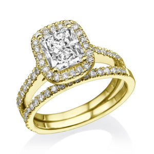 "1.5 Carat 14K Yellow Gold Diamond ""Geneva"" Wedding Set"