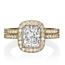 "Load image into Gallery viewer, 1 Carat 14K Rose Gold Diamond ""Geneva"" Wedding Set"