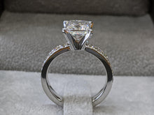 Load image into Gallery viewer, 3 Carat 14K White Gold Princess Diamond Engagement Ring