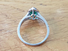 "Load image into Gallery viewer, 1.7 Carat 14K White Gold Emerald & Diamonds ""Delia"" Engagement Ring"
