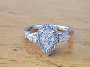 "1.5 TCW 14K White Gold ""Chloe"" Engagement Ring"