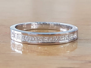 "0.4 TCW 14K White Gold Diamond ""Andrea"" Wedding Band"