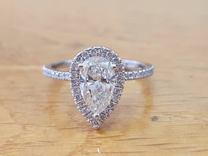"2 TCW 14K White Gold Diamond ""Philippa"" Engagement Ring"