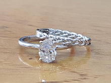 "Load image into Gallery viewer, 0.75 Carat 14K White Gold Diamond ""Annabel"" Ring Set"