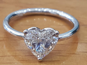"1 Carat 14K White Gold Diamond ""Valerie"" Engagement Ring"