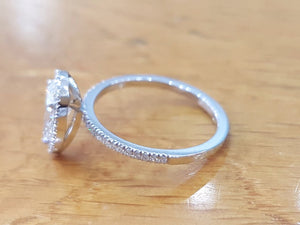 "1.36 TCW 14K White Gold Diamond ""Philippa"" Engagement Ring"