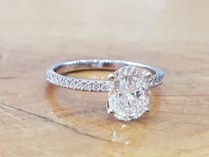 "1.8 TCW 14K White Gold Diamond ""Gemma"" Engagement Ring"