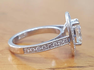 "1.5 TCW  14K White Gold Dimoand ""Natalie"" Engagement Ring"