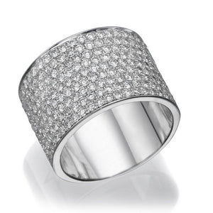 "2.2 TCW 18K White Gold Diamond ""Kristen"" Wedding Band"