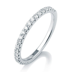 "0.20 TCW 14K White Gold Diamonds ""Amy"" Wedding Band"