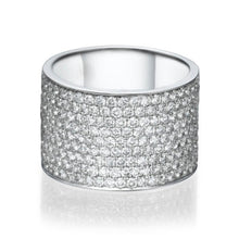 "Load image into Gallery viewer, 2.2 TCW 18K White Gold Diamond ""Kristen"" Wedding Band"