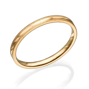 2MM 14K Yellow Gold Simple Classic Men Wedding Band