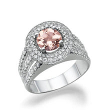 Load image into Gallery viewer, Morganite Split Shank Engagement Ring - Diamonds Mine