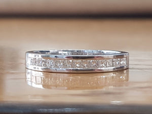 "0.4 TCW 14K White Gold Diamond ""Andrea"" Wedding Band - Diamonds Mine"