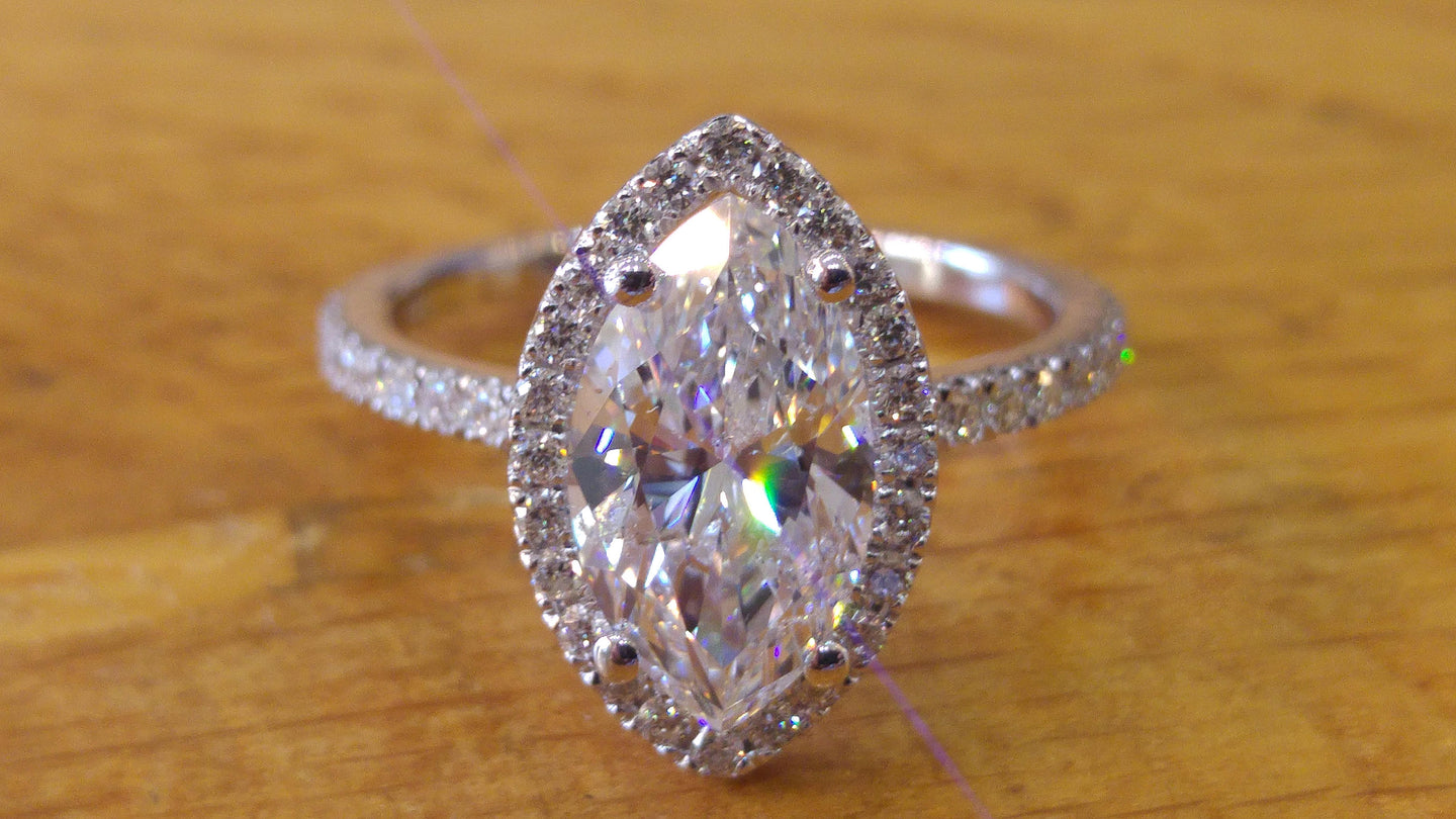 Marquise Shape Engagement Ring - Diamonds Mine