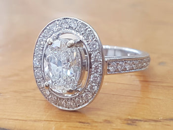 1.5 Carat Diamond Oval Engagement Ring - Diamonds Mine
