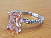 Load image into Gallery viewer, 3 Carat Morganite Engagement Ring With Diamonds - Diamonds Mine