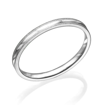 Wedding Bands For Men Gentle 2mm - Diamonds Mine