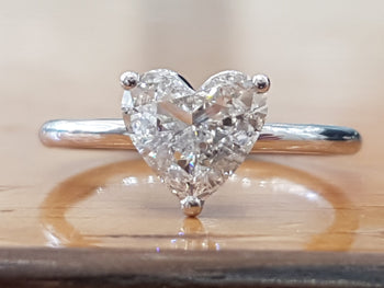 "1 Carat 14K White Gold Diamond ""Valerie"" Engagement Ring - Diamonds Mine"