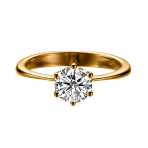 "3 Carat 14K Rose Gold Diamond ""Grace"" Engagement Ring"