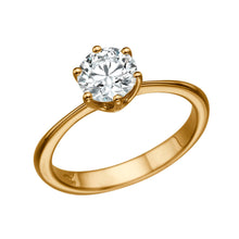 "Load image into Gallery viewer, 3 Carat 14K Rose Gold Diamond ""Grace"" Engagement Ring"