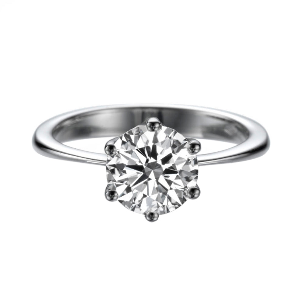 1.5 Carat 14K White Gold Forever One Moissanite