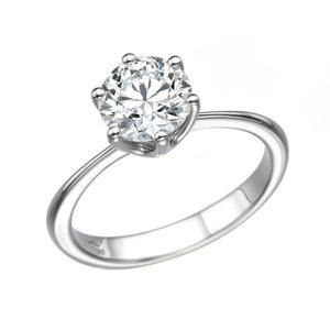 "1.5 Carat 14K White Gold Forever One Moissanite ""Grace"" Engagement Ring"