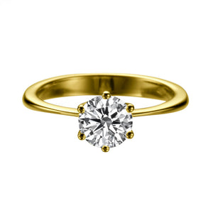 "1.5 Carat 14K Yellow Gold Moissanite ""Grace"" Engagement Ring"