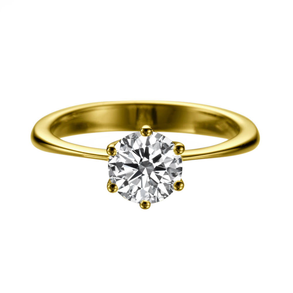 1.5 Carat 14K Yellow Gold Moissanite