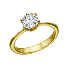 "Load image into Gallery viewer, 1.5 Carat 14K Yellow Gold Moissanite ""Grace"" Engagement Ring"