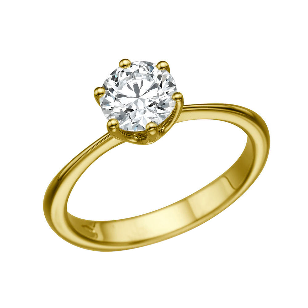 1.9 Carat 14K Yellow Gold Moissanite