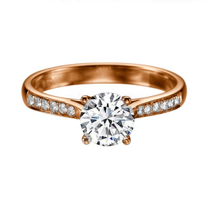 "1.6 Carat 14K Yellow Gold Diamond ""Diana"" Engagement Ring"