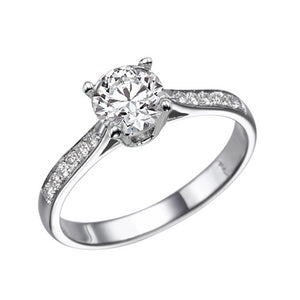 1.1 Carat 14K White Gold Diamond