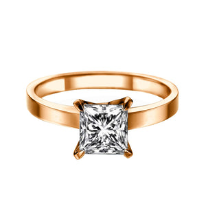 "2 Carat 14K Yellow Gold Diamond ""Iris"" Engagement Ring"