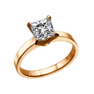 "1 Carat 14K Yellow Gold Moissanite ""Iris"" Engagement Ring"