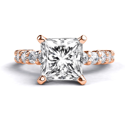 1.9 TCW 14K Rose Gold Forever One Moissanite