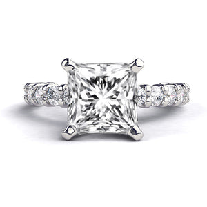 "2.4 Carat 14K White Gold Diamond ""Gloria"" Engagement Ring"