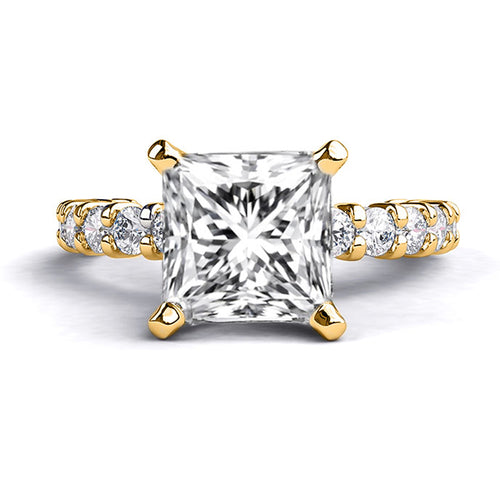 1.9 TCW 14K Yellow Gold Forever One Moissanite