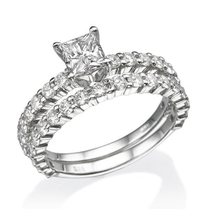 Moissanite Princess Cut Wedding Set - Diamonds Mine